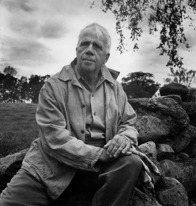 Robert Frost at a Mending Wall