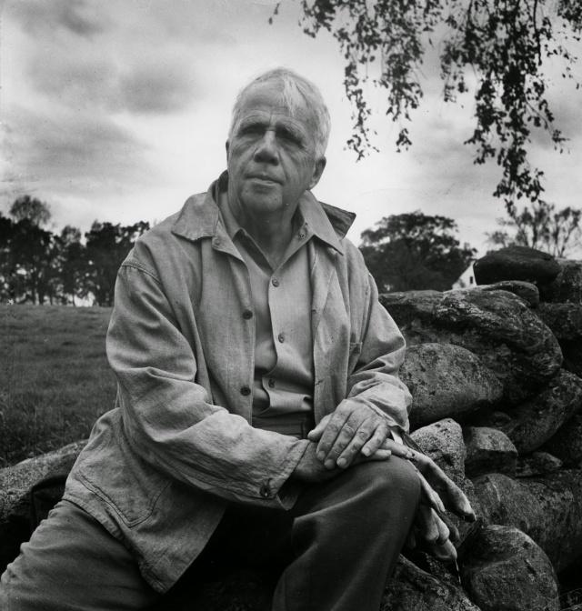 Robert Frost at a Mending Wall