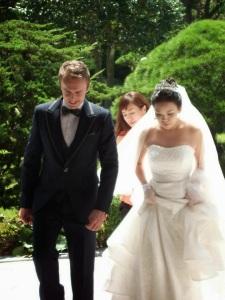 White man Asian woman couple
